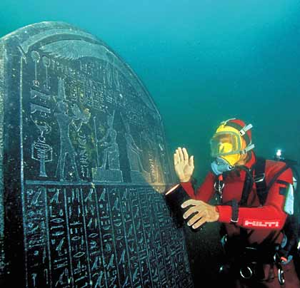 Discovery of Remains of Underwater City of Heracleion Below Nile