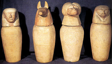 ancient-egyptian-Canopic jars