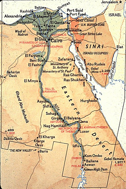 Egyptian Transcontinental Country Black Land The Nile - Ancient egypt map